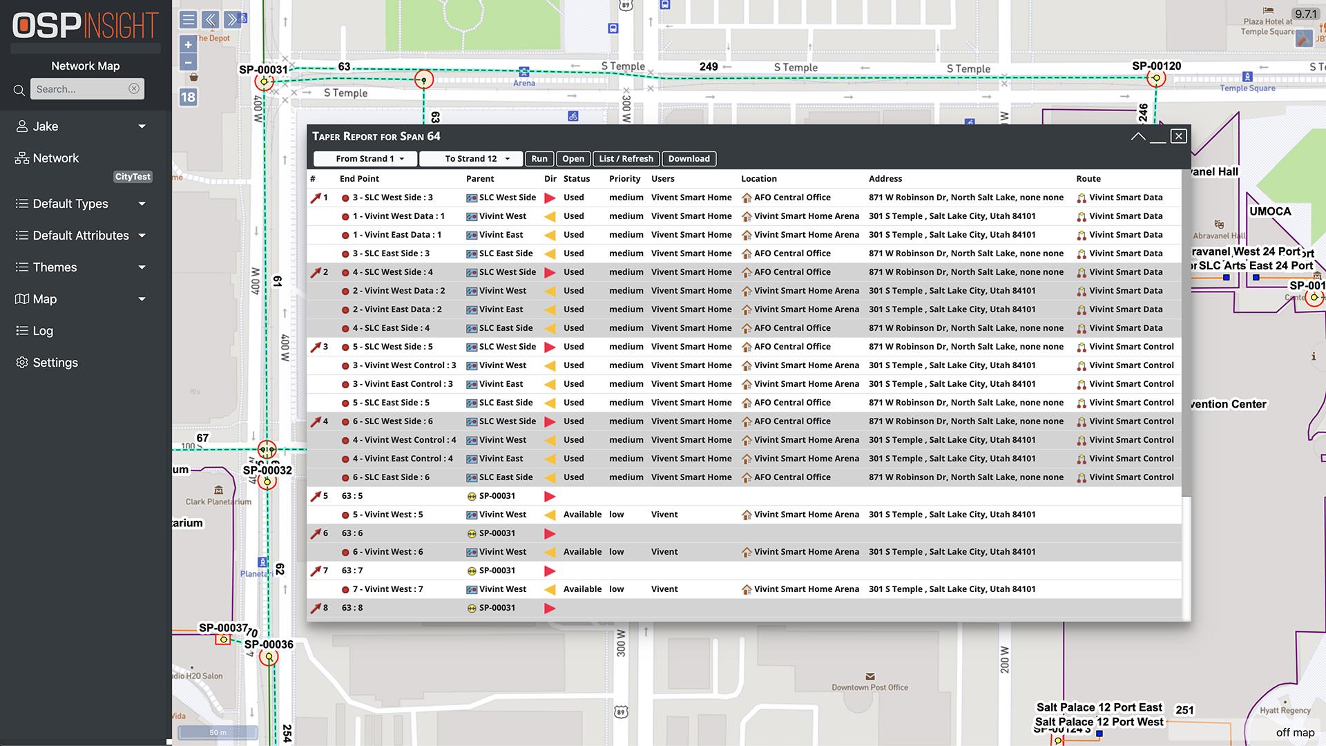 OSPInsight Web - Taper Report (Full)